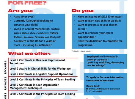 Programme Offers for the Employed in the Greater Manchester Area!