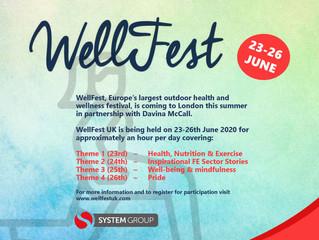 WellFest 23-26th June!