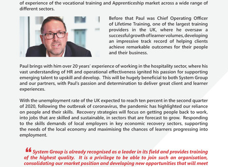 System Group Welcomes Paul Hudson as New CEO