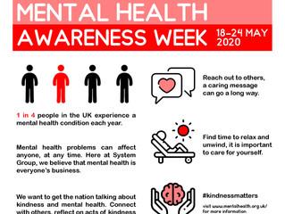 Mental Health Awareness Week 18-24th May
