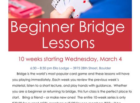 Beginner Bridge Lessons