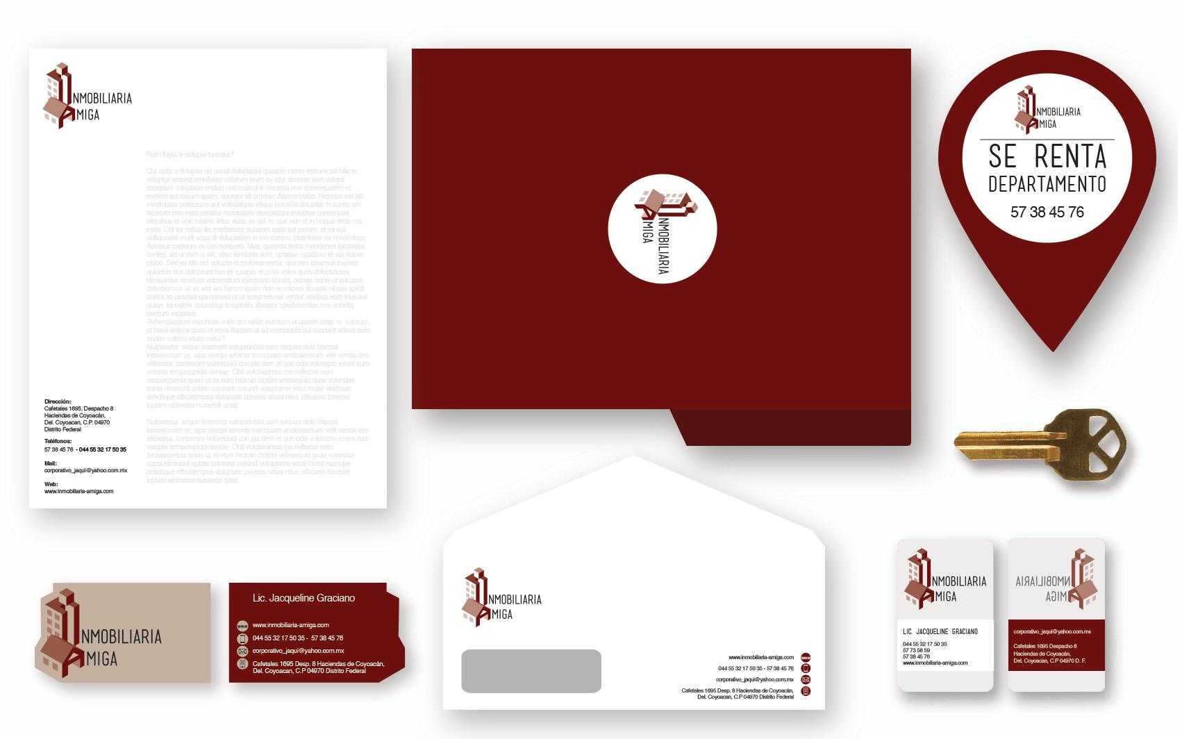 Diseño de identidad y papelería.
