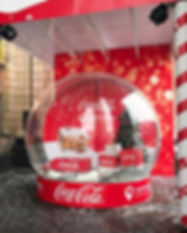 Snow ball, Snow globe, photo zone, photo booth