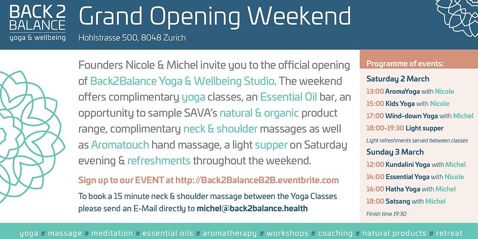 Back2Balance Grand Opening Weekend!