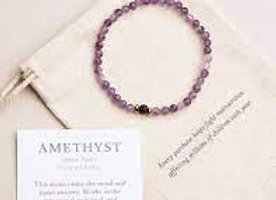 Amethyst with Lava Stone