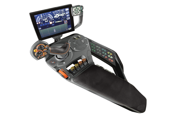 Gleaner combine multi function armrest with Tyton terminal