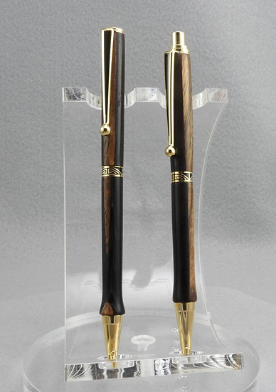 Ballpoint and Pencil Set in Wenge'