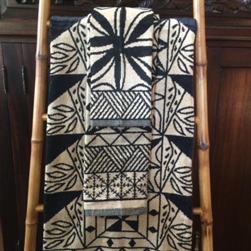 3 Piece Tapa-Design Towels