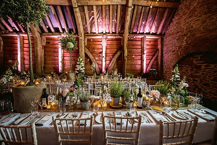 Wedding Tablescape at Stockbridge Farm Barn