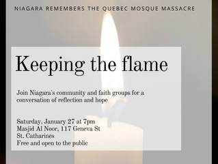Keeping the Flame - Niagara remembers the Quebec Mosque massacre