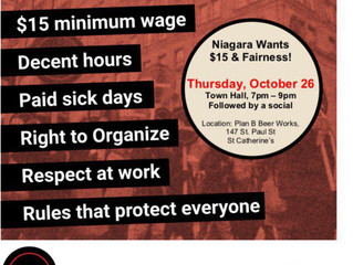 Niagara Wants $15 & Fairness Town Hall