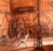 Wagon wheels in Solomon Temple Barn