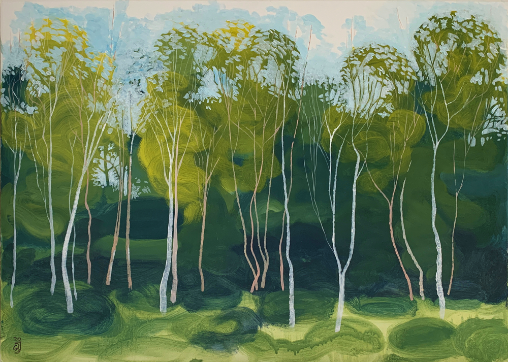 Silver Birch, Pioneer trees (sketch), New Forest 2020