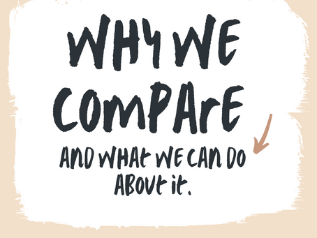 (How to) Stop Comparing