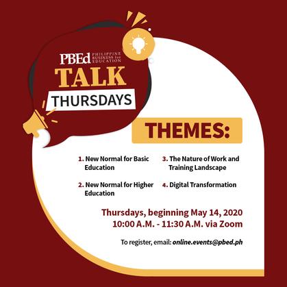 PBEd Talk Thursdays Presentations