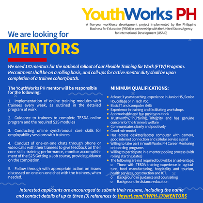 Call for Applications for Mentors