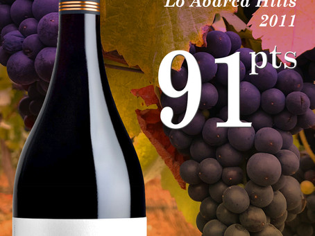 91 Points for Casa Marin Pinot Noir Lo Abarca Hills!