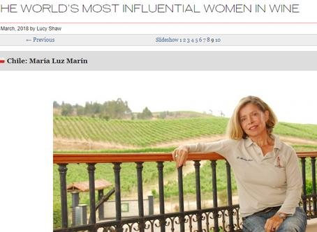 Maria Luz Marin nombró como una de las mujeres más influyentes en el mundo del vino