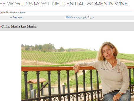 Maria Luz Marin named as one of the Most Influential Women in Wine!