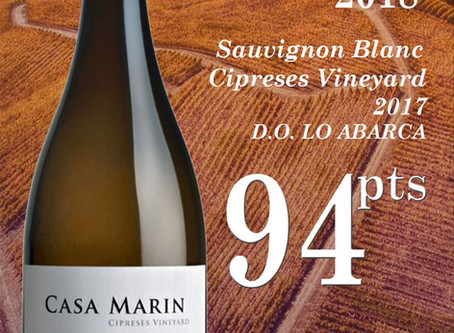 94 puntos para Casa Marin Sauvignon Blanc Cipreses 2017