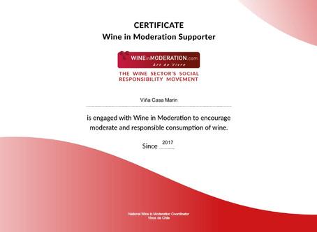 Casa Marín se une al programa Wine in Moderation