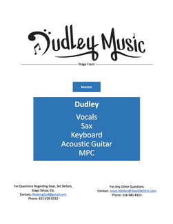 Dudley Music Solo