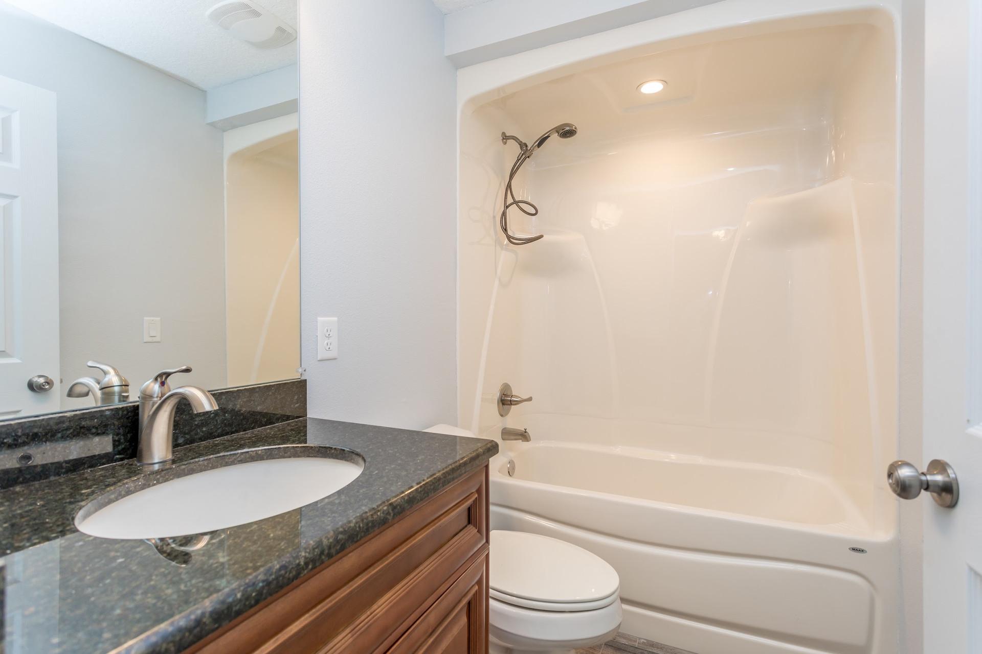LEDGESTONE guest bathroom