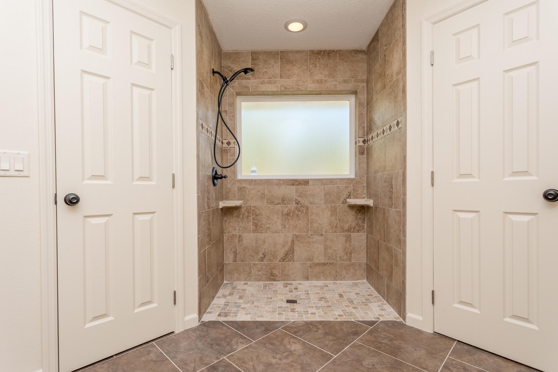 PATRICIA master bath dual walk in closets and shower
