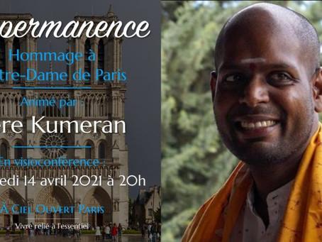 Visioconférence avec Père Kumeran - 14 avril à 20h - L'impermanence -  en partenariat avec ACOP