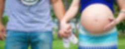pareja con mujer embarazada