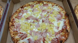 14 inch Canadian bacon and pineapple