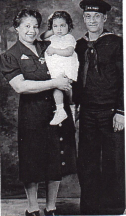 Joe with first wife and daughter