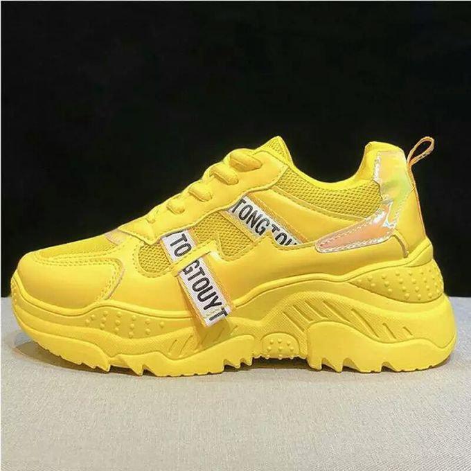 Ladies Yellow Sneakers   Doozystore