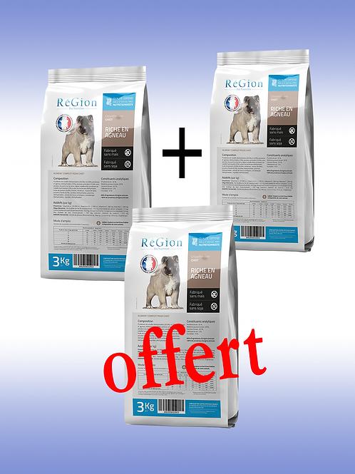 RéGion Chiot Riche en Agneau 3KG - Nouvelle recette offre 2+1