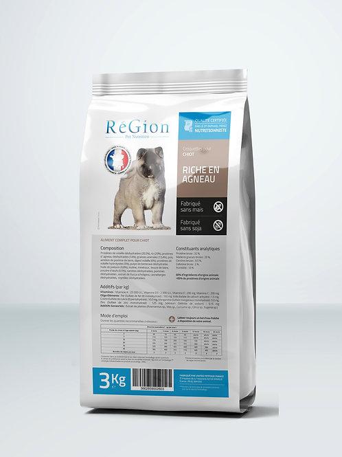 RéGion Chiot Riche en Agneau 3KG - Nouvelle recette