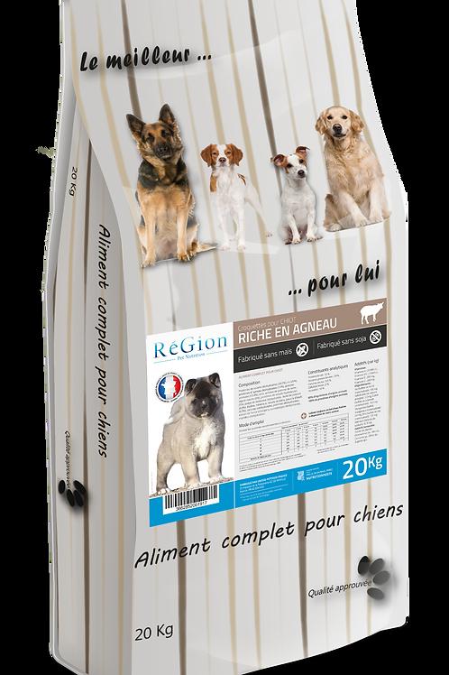 RéGion Chiot Riche en Agneau 20KG - Nouvelle recette
