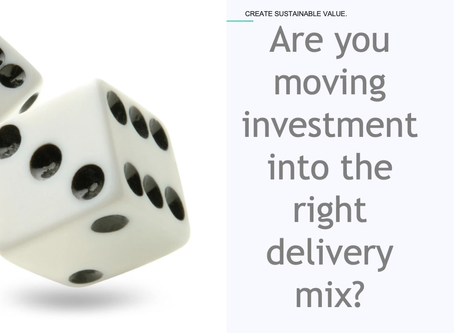 Are you moving investment into the right delivery channel?