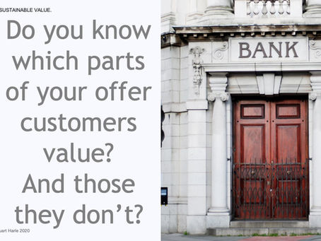 Do you know which parts of your offer customers value? And those they don't?