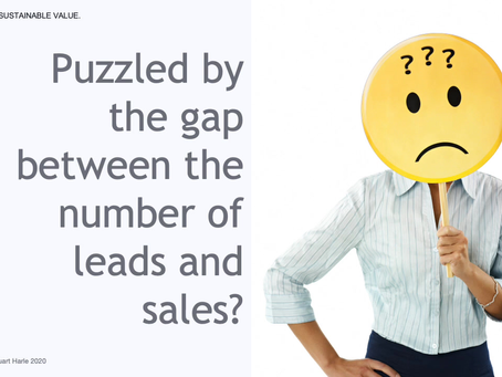 Puzzled by the gap between the number of leads and sales?