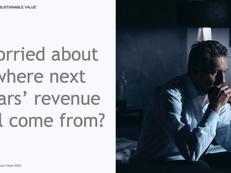 Worried about where next years' revenue will come from?