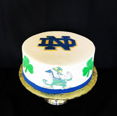 Notre Dame Grooms Cake