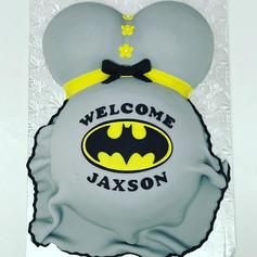 Batman Baby Bump Cake