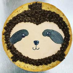 Sloth Cookie Cake