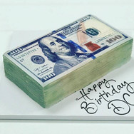 100 Dollar Bill Birthday Cake