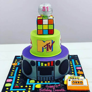 80s Theme Cake
