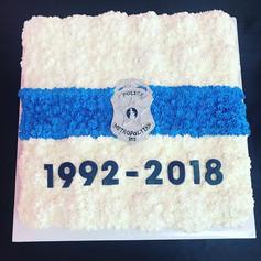 Thin Blue Line Police Retirement Cake