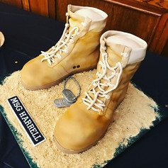 Army Boots Retirement Cake