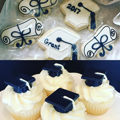 Black and White Graduation Cookies