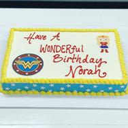 Wonder Woman Birthday Sheet Cake
