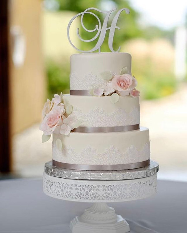 Lace Wedding Cake Indianapolis